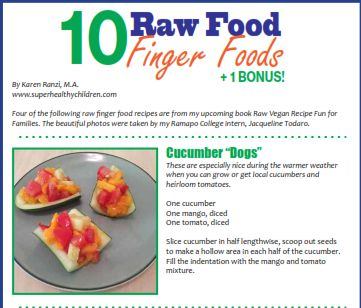 Raw Food Finger Foods