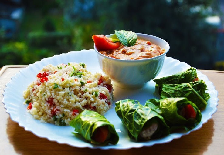 Thrive on raw recipes rawsomehealthy mexican platter with guacamole tacos and rice forumfinder Choice Image