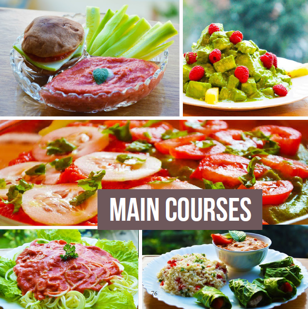 Thrive on raw recipes rawsomehealthy mouth watering main courses forumfinder Choice Image