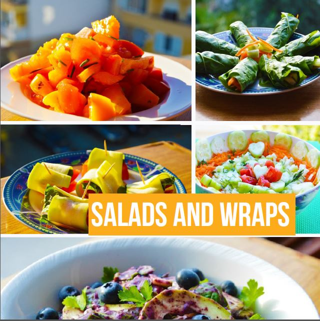 Thrive on raw recipes rawsomehealthy crunchy salads and wraps forumfinder Choice Image