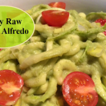 Fully Raw Vegan Avocado Alfredo With Zucchini Noodles