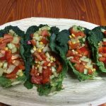 Raw Taco Kale Wraps With Salsa And Avocado Cream