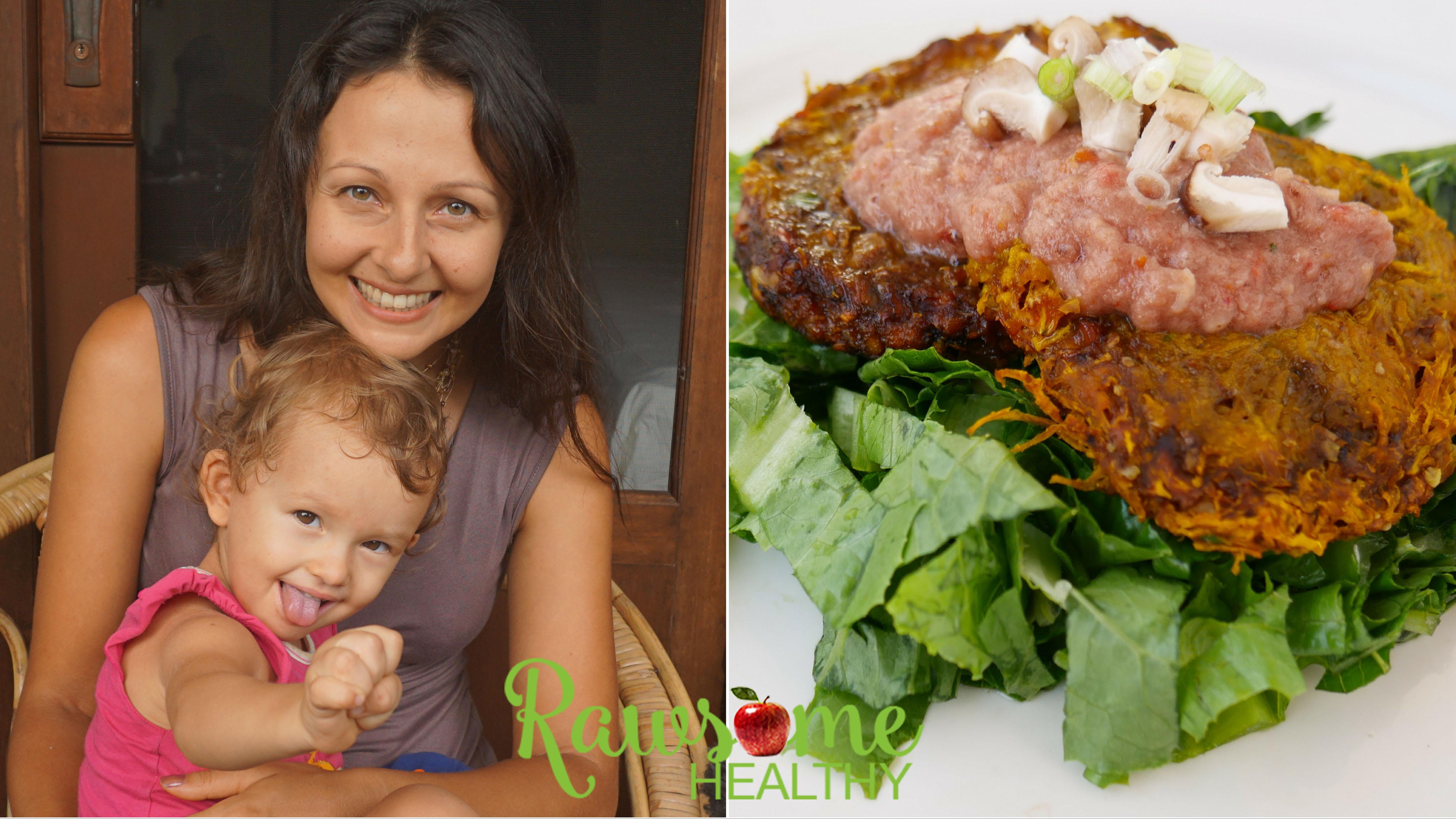 What We Ate HCLF + Vegan Thanksgiving Pumpkin Burgers Recipe!
