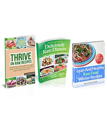 Thrive on raw recipes rawsomehealthy raw food recipe bundle three books in one package forumfinder Choice Image