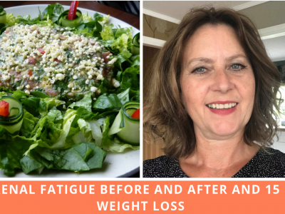 Adrenal Fatigue Before And After With 15Lbs Weight Loss In 8 Weeks
